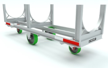 Bar Handling Truck Steel Cradle Material Handling Equipment